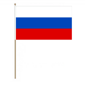 Russia Country Hand Flag, large.